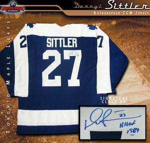 DARRYL SITTLER Signed Toronto Maple Leafs Blue CCM Jersey