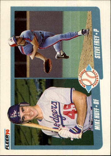 Photo of 1990 Fleer #649 Mike Huff RC/Steve Frey RC