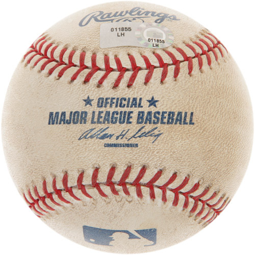 Photo of Game-Used Baseball from Ken Griffey Jr.'s 600th Career Homerun Game
