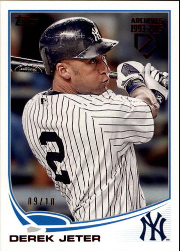Photo of 2017 Topps Archives Retrospective Red #DJ21 Derek Jeter '13 Topps 9/10