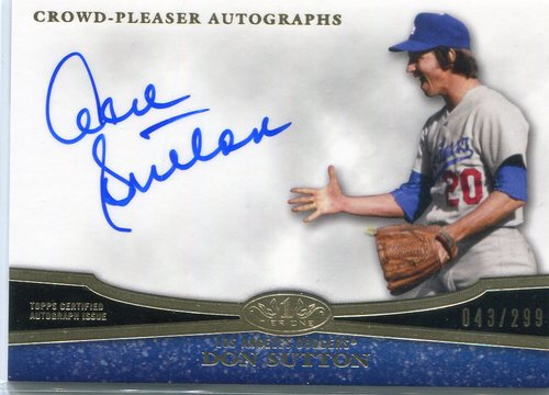 Photo of 2013 Topps Tier One Crowd Pleaser Autograph Don Sutton 43/299 -- Hall of Famer