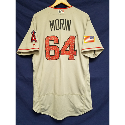 Photo of Mike Morin Game-Used Road Jersey - 7/4/2017