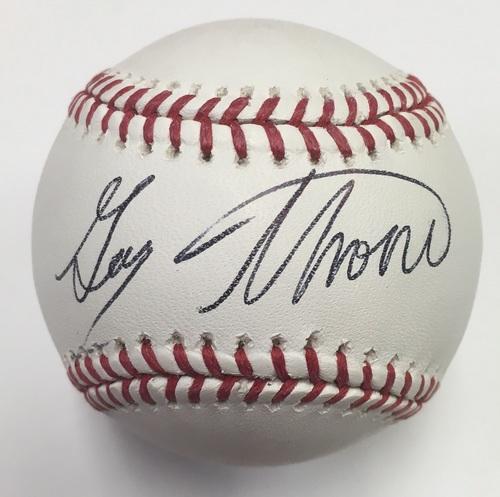 Photo of Gary Thorne Autographed Baseball