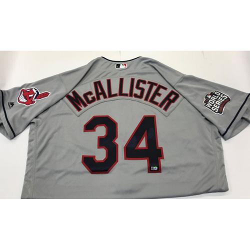 Photo of Zach McAllister Team-Issued 2016 World Series Jersey