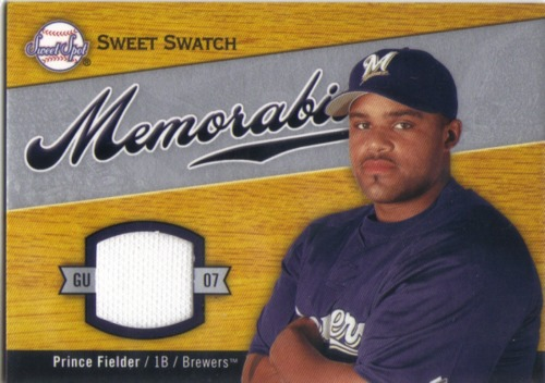 Photo of 2007 Sweet Spot Sweet Swatch Memorabilia #PF Prince Fielder