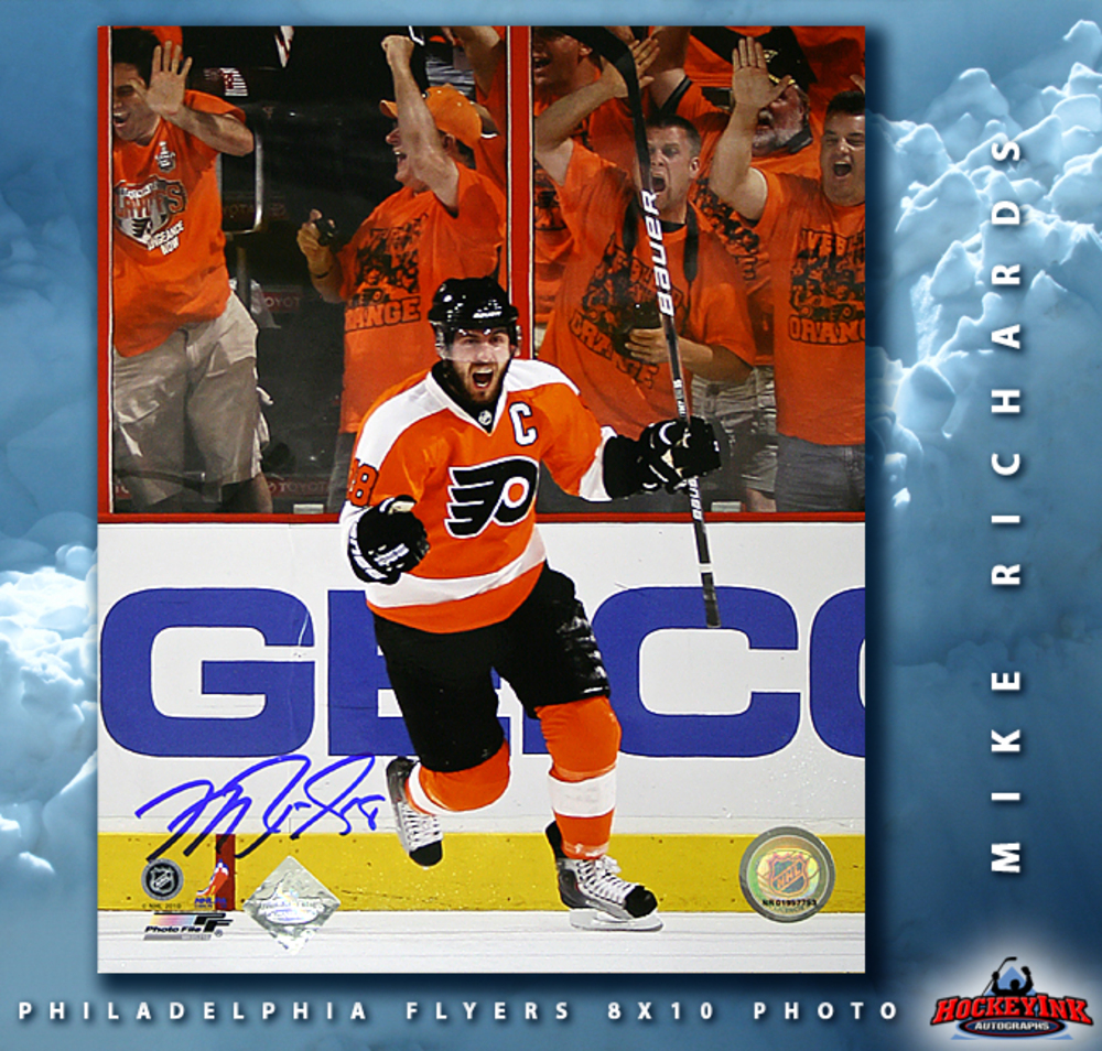 MIKE RICHARDS Signed Philadelphia Flyers 8 X 10 Photo - 70490
