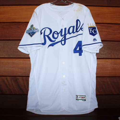 Photo of Alex Gordon Game-Used Jersey (9/15/16) - Size 46