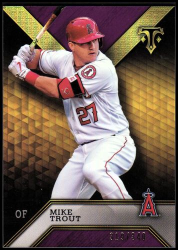 Photo of 2016 Topps Triple Threads Amethyst #69 Mike Trout