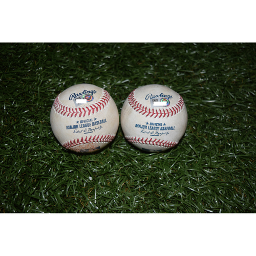 Photo of Game-Used Baseballs: Brad Miller and Carlos Beltran