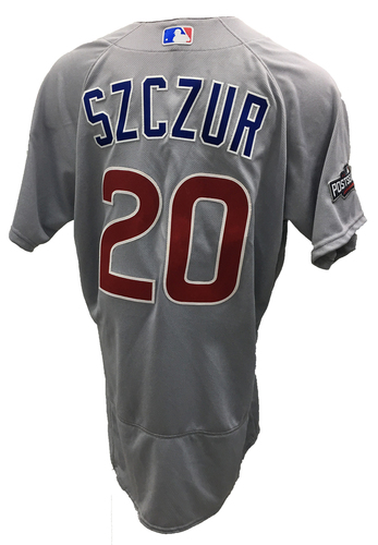 Photo of Matt Szczur Team-Issued Jersey -- 2016 World Champion Season -- NLDS Game 4 -- Cubs vs Giants -- 10/11/16