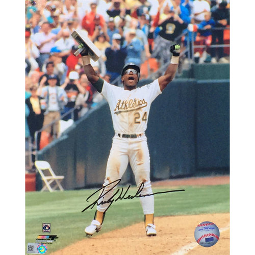 Rickey Henderson Stolen Base Record Autographed Photo