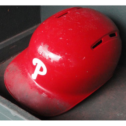 Photo of 2017 Game-Used Red Helmet: Nick Williams