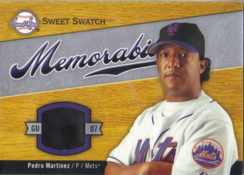 Photo of 2007 Sweet Spot Sweet Swatch Memorabilia #PM Pedro Martinez