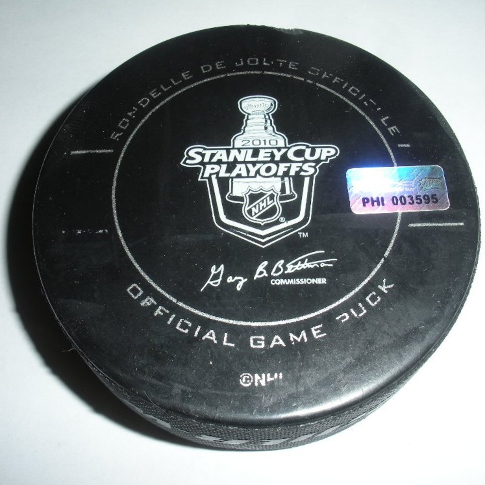 Mark Recchi - Boston Bruins - Goal Puck - May 7, 2010 (Flyers Logo)
