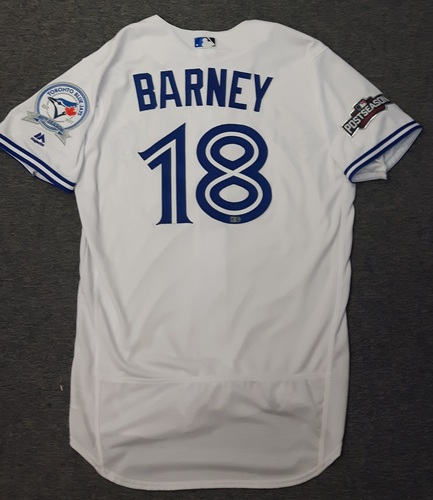 Photo of Authenticated Team Issued 2016 Postseason Jersey - #18 Darwin Barney