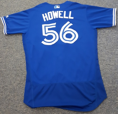 Photo of Authenticated Team Issued Jersey - #56 J.P. Howell (2017 Season). Size 46.