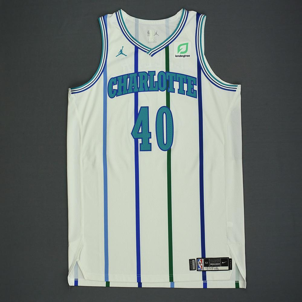 Cody Zeller - Charlotte Hornets - Kia NBA Tip-Off 2018 - Game-Worn Classic Edition '1988-97 Home' Jersey