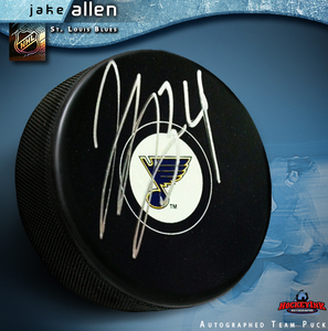 JAKE ALLEN Signed St. Louis Blues Puck