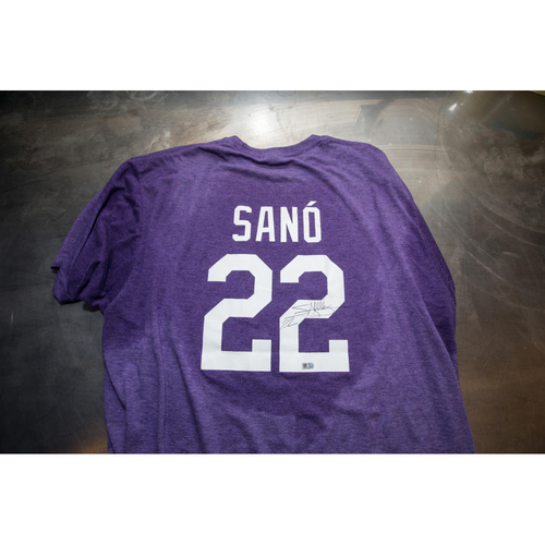 Photo of Autographed Miguel Sano Prince Night Batting Practice T-Shirt