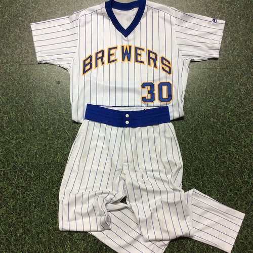 Photo of Craig Counsell Team-Issued 1982 Reunion Weekend Uniform