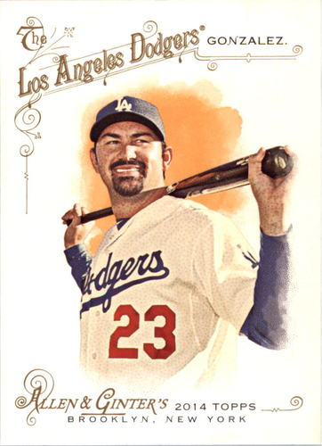 Photo of 2014 Topps Allen and Ginter #74 Adrian Gonzalez