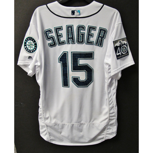 Photo of Mariners Care Hurricane Irma Relief - Kyle Seager Game-Used Marineros Jersey 9-9-2017 Size 46