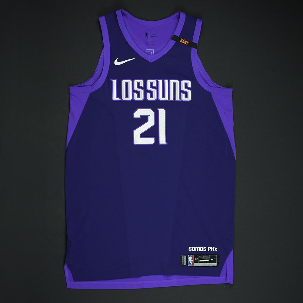 Alex Len - Phoenix Suns - Game-Worn 'Los Suns' City Jersey - 2017-18 Season