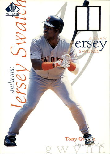Photo of 1998 SP Authentic Game Jersey 5 x 7 #5 Tony Gwynn/415