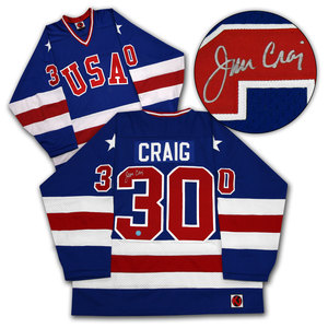 Jim Craig Team USA Autographed 1980 Olympic Gold Medal Jersey