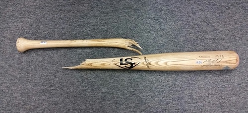 Photo of Authenticated Melvin Upton Jr. Team Issued Broken Bat