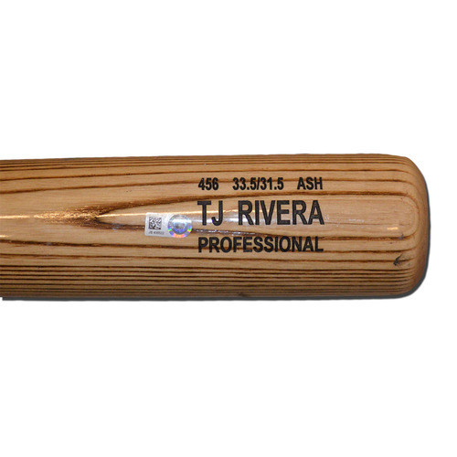 Photo of T.J. Rivera #54 - Team Issued Bat - Beige Rawlings Model - 2016 Season