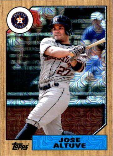 Photo of 2017 Topps '87 Topps Silver Pack Chrome #87JA Jose Altuve