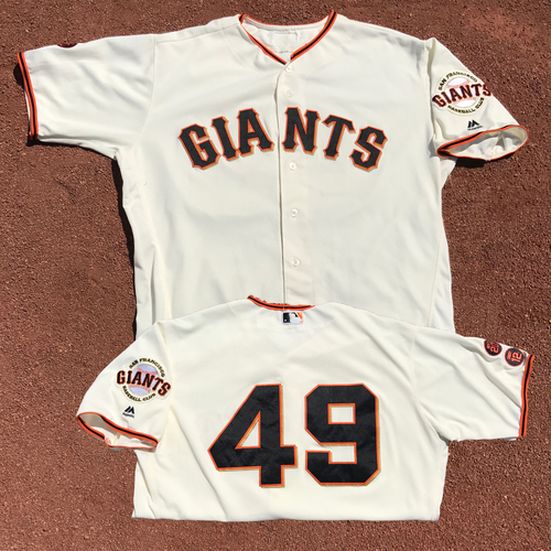 Photo of San Francisco Giants - Game-Used Jersey - Javier Lopez - Worn on 6/15/16 and 7/10/16
