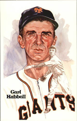 Photo of 1980-02 Perez-Steele Hall of Fame Postcards #53 Carl Hubbell -- Set #08689
