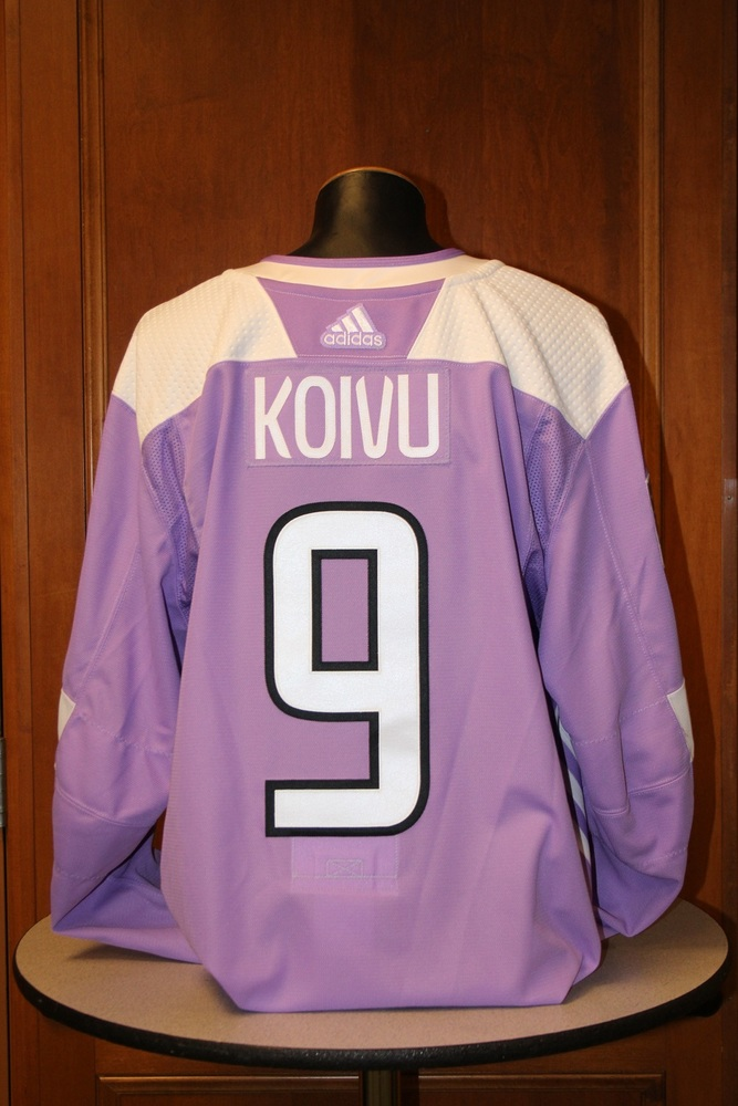 Mikko Koivu Minnesota Wild 2017 Hockey Fights Cancer Night Warm-Up Jersey (Size 58)