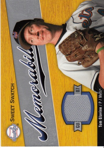 Photo of 2007 Sweet Spot Sweet Swatch Memorabilia #TG Tom Glavine
