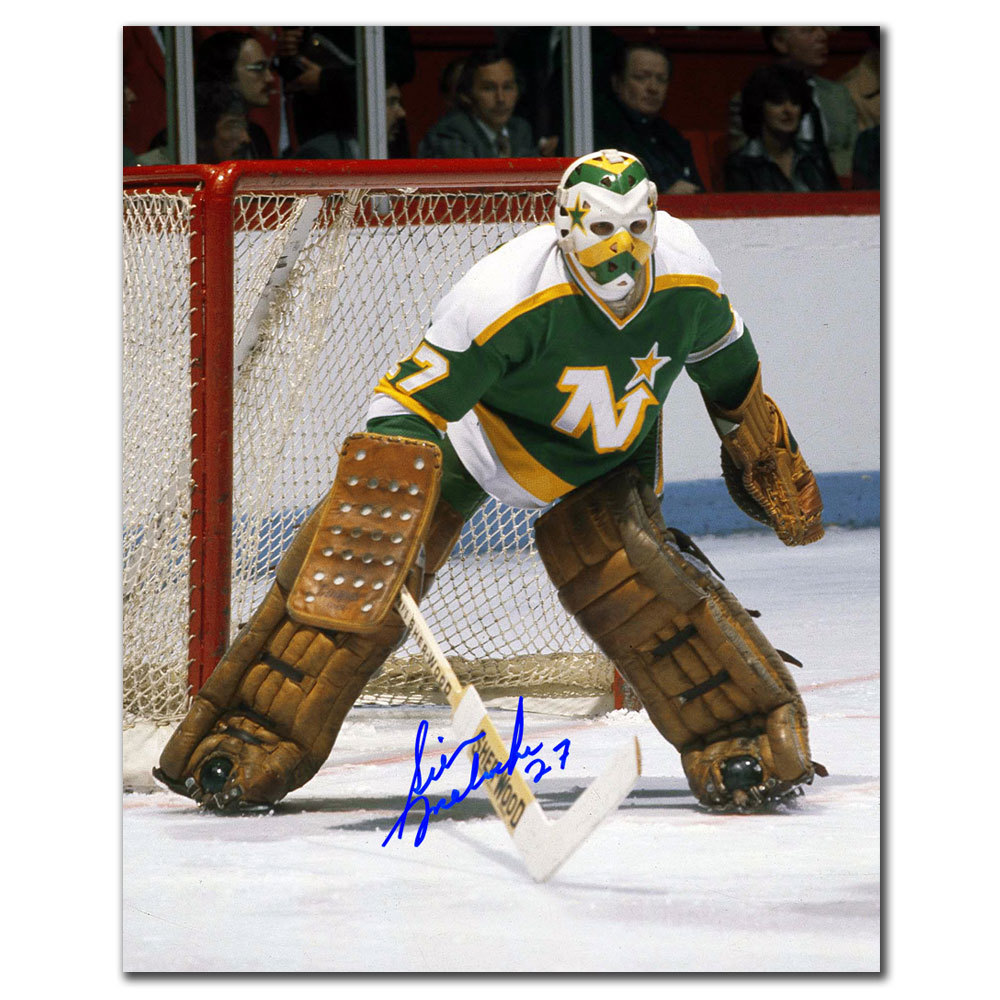 Gilles Meloche Minnesota North Stars Autographed 8x10