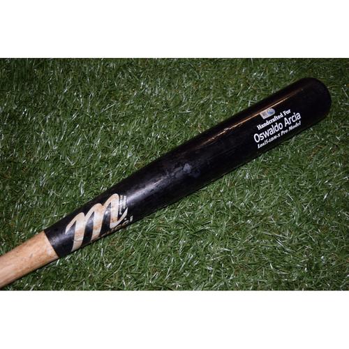 Photo of Game-Used Broken Bat: Tampa Bay Rays at Oakland Athletics