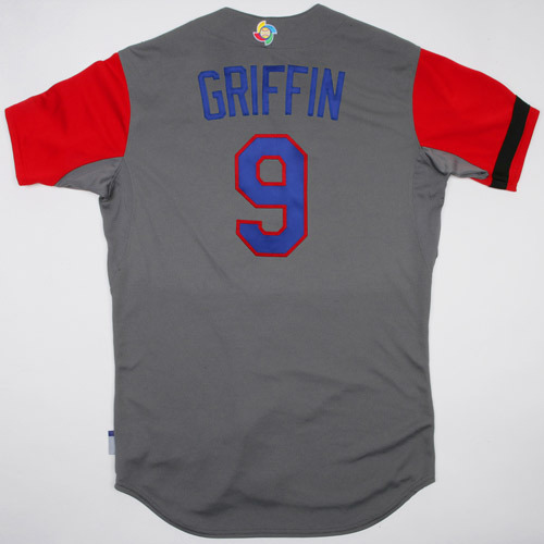 Photo of 2017 WBC Dominican Republic Game-Used Road Jersey, Griffin #9