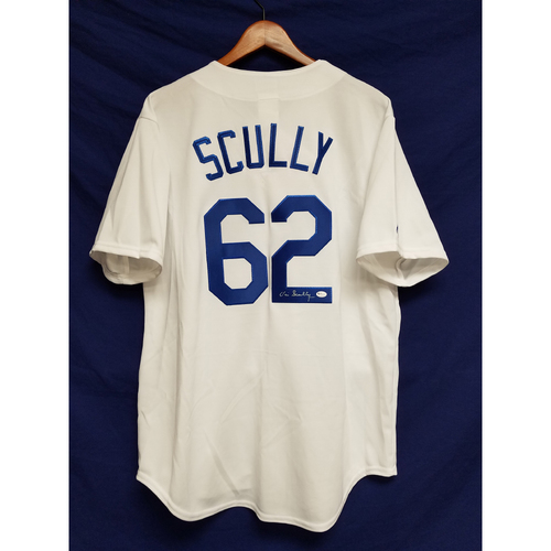 Photo of Kershaw's Challenge: Vin Scully Autographed Home Jersey
