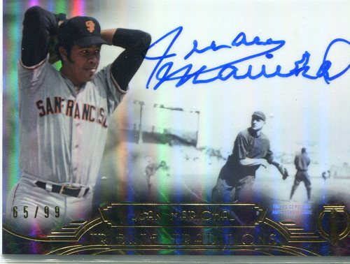 Photo of 2014 Topps Tribute Tribute Traditions Autograph Juan Marichal 65/99 -- Hall of Famer