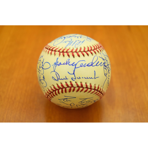 Photo of 1995 Detroit Tigers Team Signed Baseball - Not Authenticated by MLB