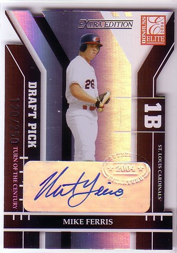 Photo of 2004 Donruss Elite Extra Edition Signature Turn of the Century #331 Mike Ferris DP/250