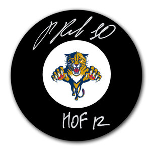 Pavel Bure Florida Panthers HOF Autographed Puck