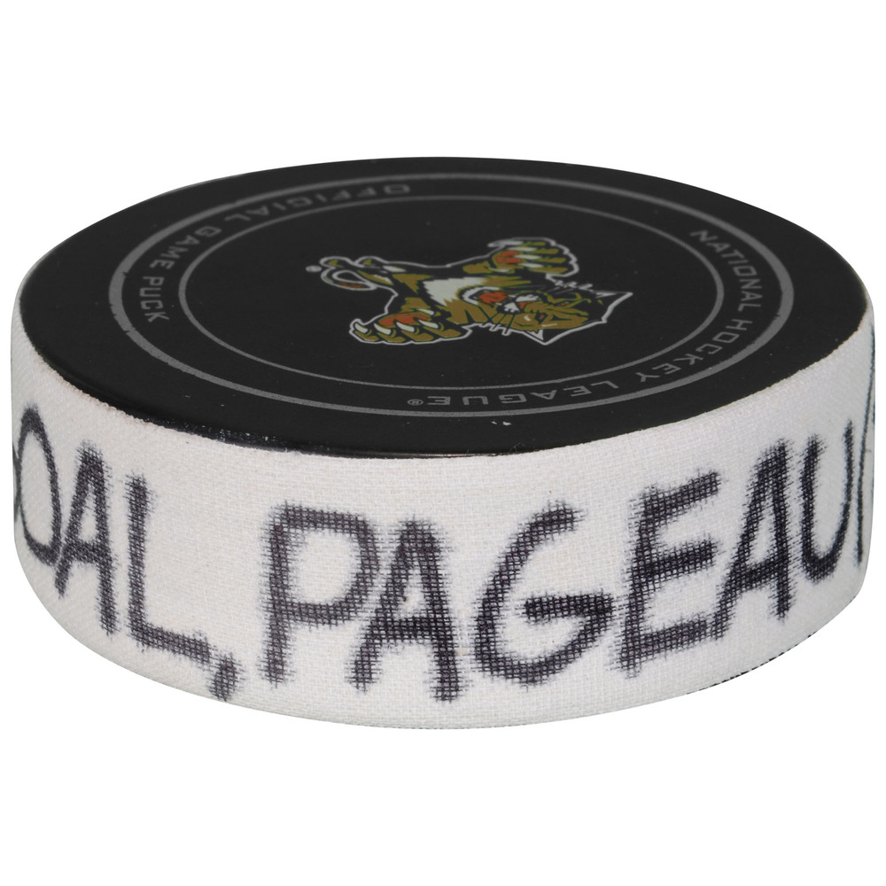Jean-Gabriel Pageau Ottawa Senators Game-Used Goal Puck from December 8, 2015 vs. Florida Panthers