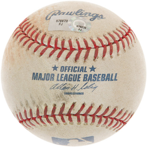 Photo of Game-Used Baseball from Albert Pujols' 200th Career Major League Hit Game