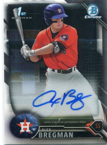 Photo of 2016 Bowman Chrome Prospect Autographs #CPAAB Alex Bregman