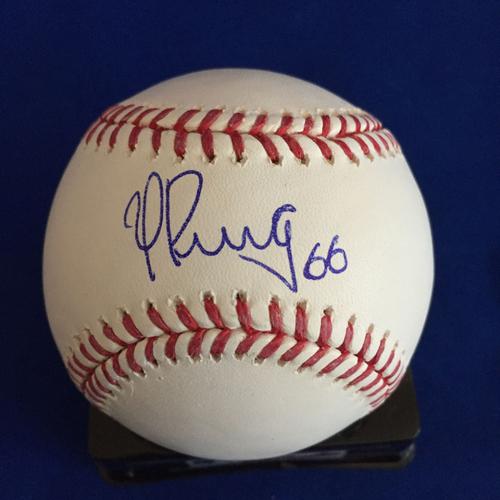 Photo of UMPS CARE AUCTION: Yasiel Puig Signed Baseball