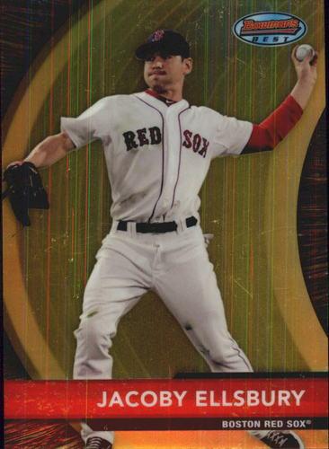 Photo of 2012 Bowman Bowman's Best #BB25 Jacoby Ellsbury -- Yankees post-season