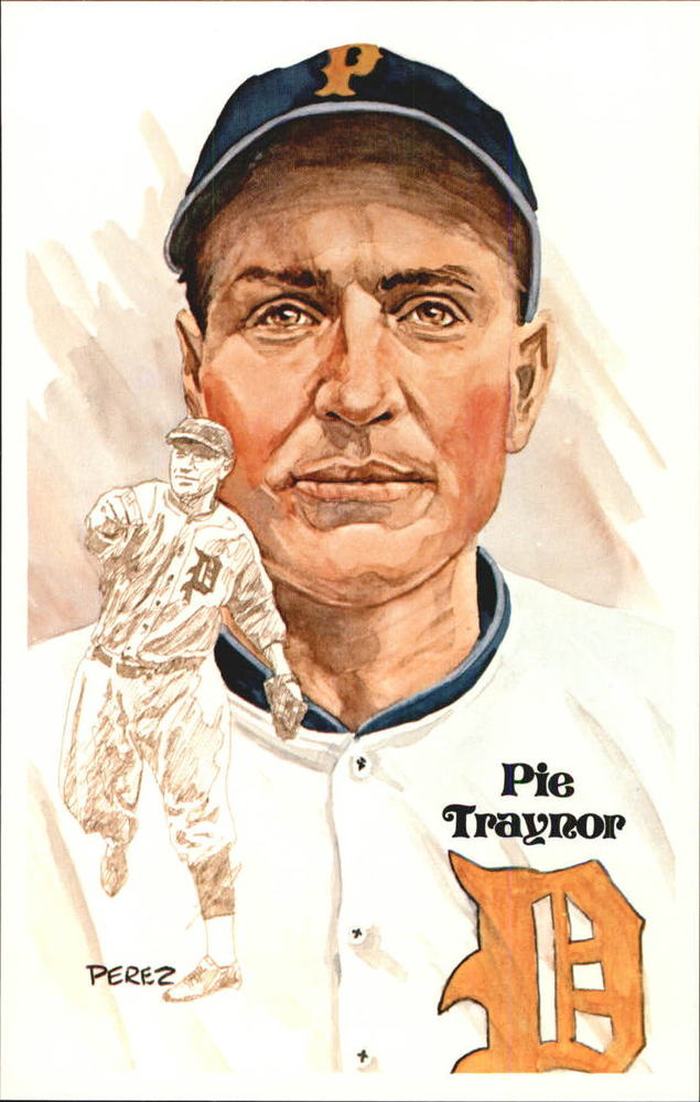 1980-02 Perez-Steele Hall of Fame Postcards #55 Pie Traynor -- Set #08689